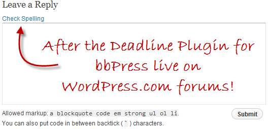 After the Deadline Plugin for bbPress Live on WordPress.com Forums!