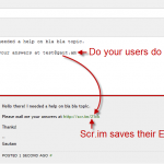 Scrim Email Saver Plugin in Action!