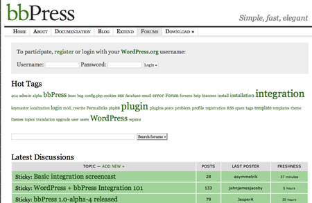 bbPress Forums (Old Look)